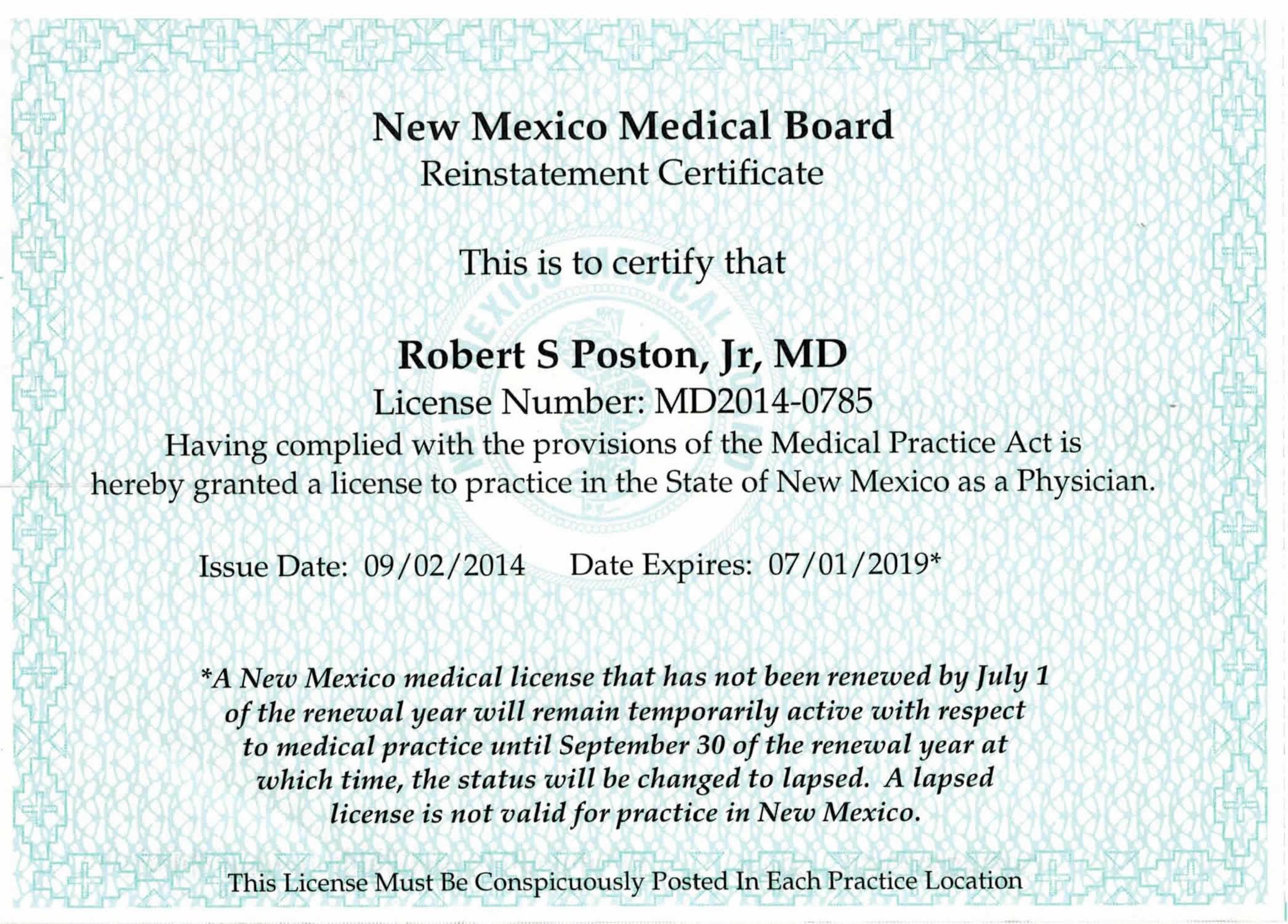Electronic Curriculum Vitae – Robert S Poston, MD